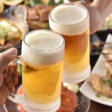 333円(税抜)ドリンクやじゃんけんで大ジョッキになる生ビール