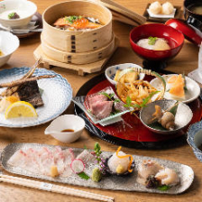 富山湾直送の鮮魚と出汁にこだわった旬の郷土料理を存分に味わう『つるぎコース』全9品
