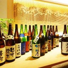 富山のお酒が勢ぞろい