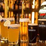 ギネス、ヒューガルデンなど、世界で人気のビールもご用意