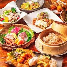 【当店人気No.1】鮮度抜群のお造りや、名物エビチリ&マヨの食べ比べ『おすすめコース』全7品