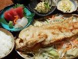 ランチメニュー 本日の魚バター焼き御膳