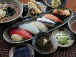 にぎり寿司 天ぷら 日本そば御膳