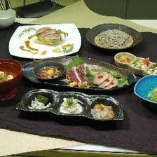 ◆自慢の蕎麦、河内鴨を味わうご宴会