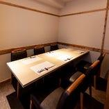 洗練された和の空間で、ゆっくりとお食事をお楽しみください。