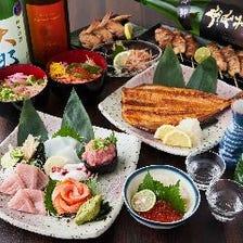鶏・豚・野菜の串焼き