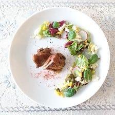 【ランチコース-B】(十勝産桜肉の炙り刺しor滝川産合鴨のコンフィ)