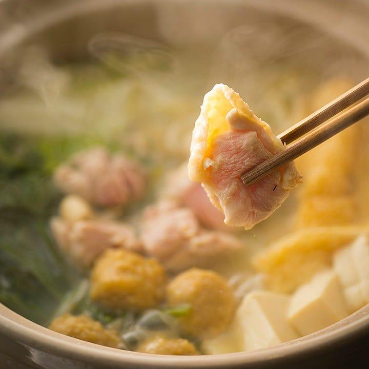 鶏白鍋+飲み放題コース