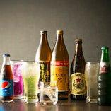 豊富なドリンクを楽しめる飲み放題はコースでも単品注文もOK!