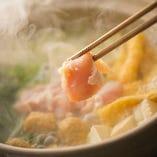 寒い季節にぴったりのお鍋は3種類ご用意しております。