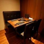 デートにもおすすめのテーブル席個室(〜4名様×4部屋)