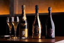 シャンパンやスパークリングも豊富