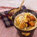 根野菜の味噌フォンデュドリア