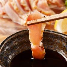 人気!!薩摩地鶏もも肉のたたき