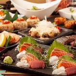 目利きを通じて旬の魚介を選別 抜群の歯応えを御愉しみ下さい。