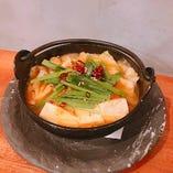 ピリ辛チゲ豆富(牡蠣入り)
