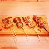 野菜肉巻き串盛 4種