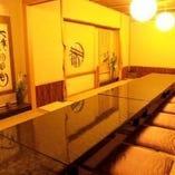 柔らかな和の空間でお過ごしいただける貸切個室(最大20~30名様)
