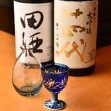 酒好きの店主が選ぶ日本酒をご一緒にいかがですか?