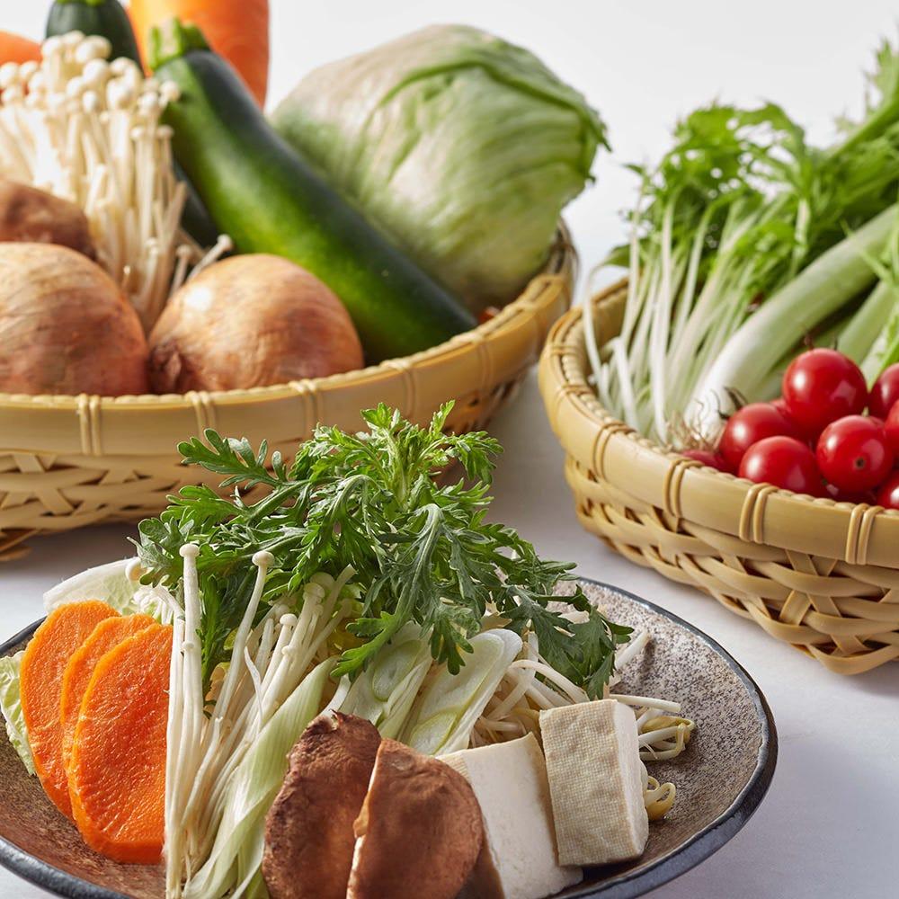 お野菜の切り方にこだわります。