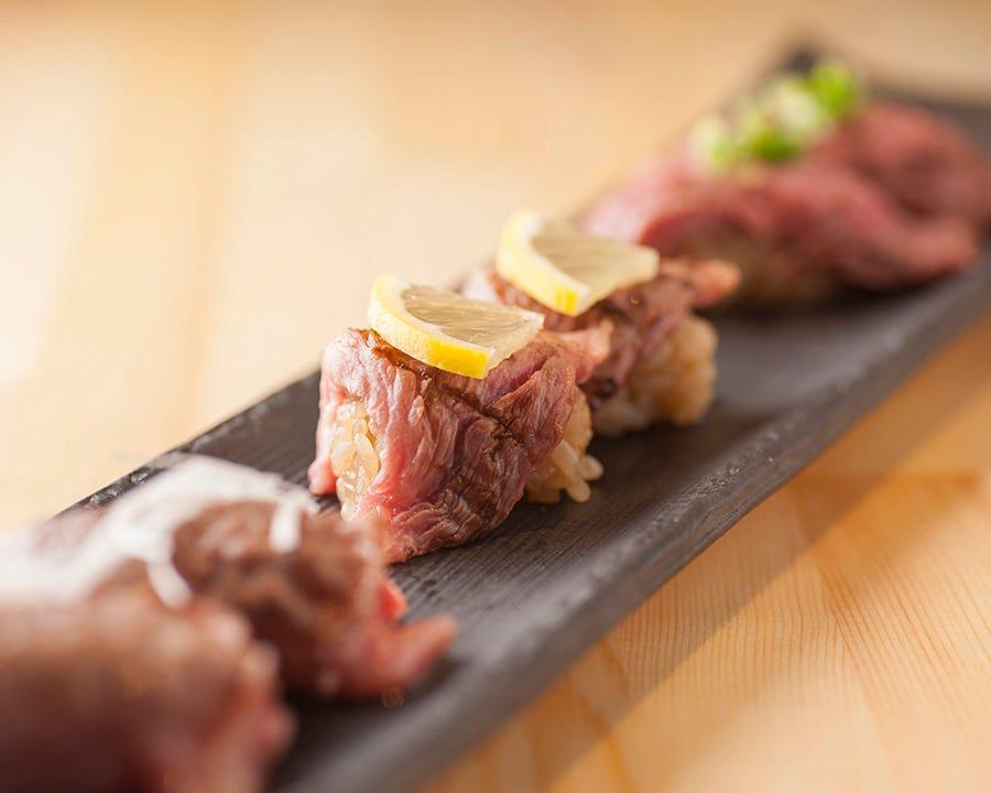 当店名物料理『肉鮨』