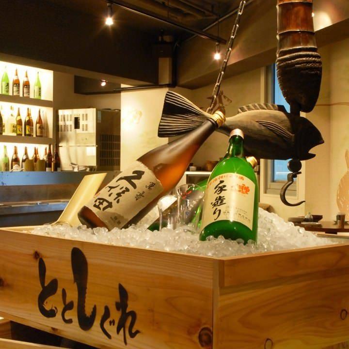 厳選の日本酒をいくつも提供します!