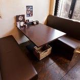 心落ち着く和みのテーブル席(~4名様×5卓)