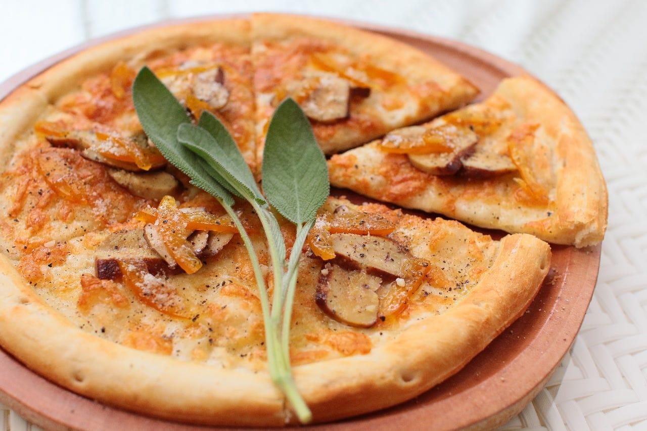 フォアグラと橙のピッツァ
