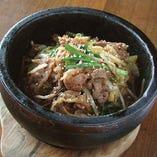 プルコギ石焼ご飯(スープ付き)