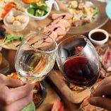 豊富なグラスワインが楽しめます◎