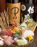 選び抜かれた日本酒・焼酎 こだわりの彩色料理とともに