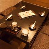 【半個室】 プライベートな空間で料理とお酒を味わうひと時を
