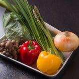新鮮な野菜だけを使用