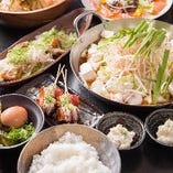 黒ホルモン鍋 or 赤ホルモン鍋 or 豚鍋コース