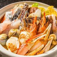 【GoTo対象】3時間飲み放題|北海道の海鮮鍋や漁港直送のお造りなど全10品『宝寿コース』6,000円⇒5,000円