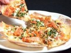 自家製生地の豚キムチピザ
