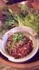 納豆と挽肉のレタス包み