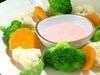 温野菜の盛り合わせ・メンタイコソース