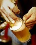 いちおしの生ビール ビアマイスターの指導で泡まで美味しい!