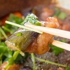 地鶏と茄子の揚げおろし煮