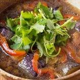 4位 地鶏と茄子の揚げおろし煮ゆず仕立て