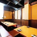 《店内中央・完全個室》小上がりの堀こたつ席でゆったり宴会(4〜12名様×1部屋)