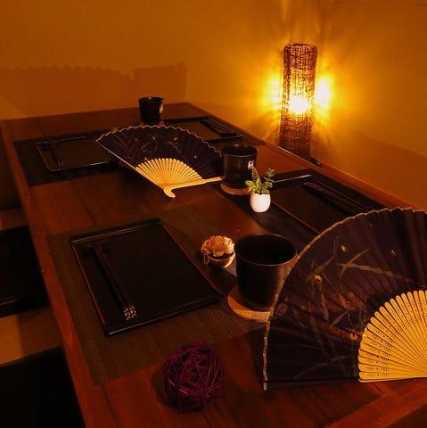 個室の落ち着いた空間でお食事