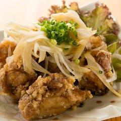 鶏唐揚げのネギソース