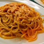 生うにのスパゲッティ トマトクリームソース
