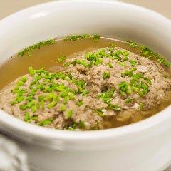仔牛レバー団子のスープ