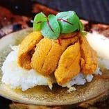 焼きリゾット~北海道産生ウニをのせて~