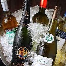 世界各地の上質なワインを飲み比べ