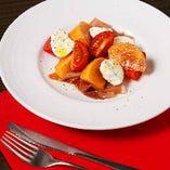 アボガドと柿のカプレーゼ