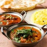 【絶品カレー】 インド直輸入のスパイス薫るカレーは必食!